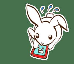 moon's rabbit English sticker #728553