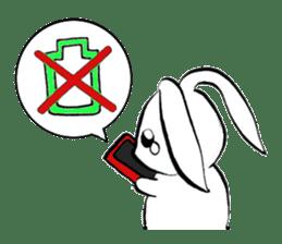 moon's rabbit English sticker #728554