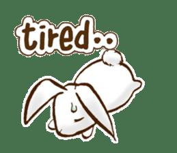 moon's rabbit English sticker #728556