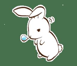 moon's rabbit English sticker #728557