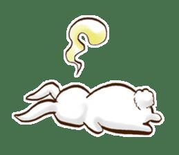 moon's rabbit English sticker #728558