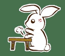 moon's rabbit English sticker #728560