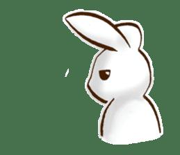 moon's rabbit English sticker #728561