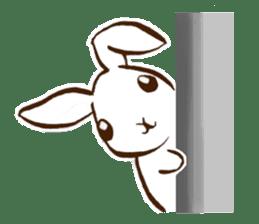 moon's rabbit English sticker #728562