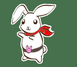 moon's rabbit English sticker #728563