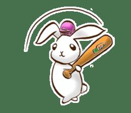 moon's rabbit English sticker #728564
