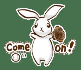 moon's rabbit English sticker #728565