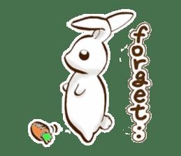 moon's rabbit English sticker #728569