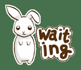 moon's rabbit English sticker #728571