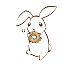 moon's rabbit English sticker #728573