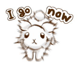 moon's rabbit English sticker #728574