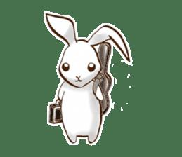 moon's rabbit English sticker #728575