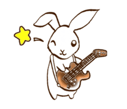 moon's rabbit English sticker #728576