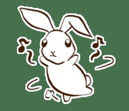 moon's rabbit English sticker #728577
