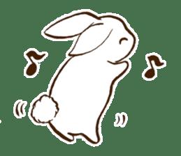 moon's rabbit English sticker #728578