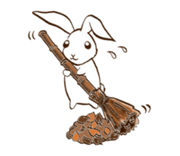 moon's rabbit English sticker #728579