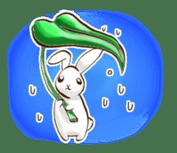 moon's rabbit English sticker #728580