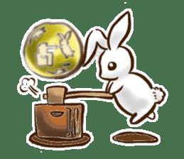 moon's rabbit English sticker #728582