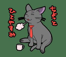 Snazzy cat Noah sticker #733049
