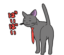Snazzy cat Noah sticker #733062