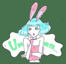 Bunny girl & Cat girl sticker #734469