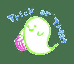 Hand-painted Halloween illustration sticker #736423