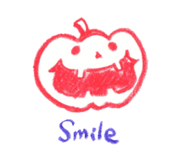 Hand-painted Halloween illustration sticker #736424