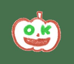 Hand-painted Halloween illustration sticker #736426