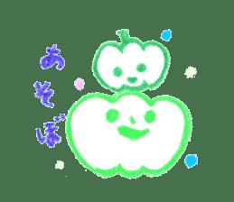 Hand-painted Halloween illustration sticker #736427