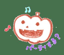 Hand-painted Halloween illustration sticker #736431