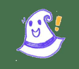 Hand-painted Halloween illustration sticker #736432