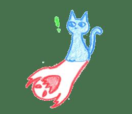 Hand-painted Halloween illustration sticker #736436