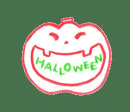 Hand-painted Halloween illustration sticker #736437