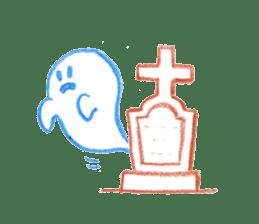 Hand-painted Halloween illustration sticker #736441
