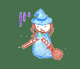 Hand-painted Halloween illustration sticker #736442