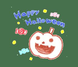 Hand-painted Halloween illustration sticker #736443