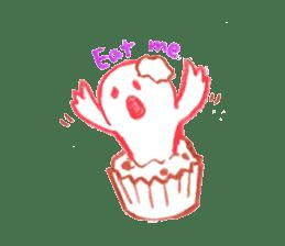 Hand-painted Halloween illustration sticker #736446
