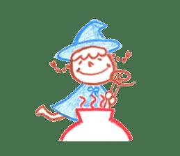 Hand-painted Halloween illustration sticker #736448