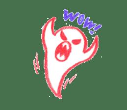 Hand-painted Halloween illustration sticker #736453