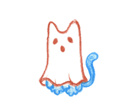 Hand-painted Halloween illustration sticker #736454