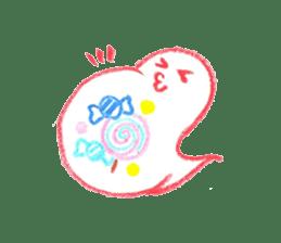 Hand-painted Halloween illustration sticker #736458