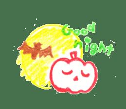 Hand-painted Halloween illustration sticker #736459