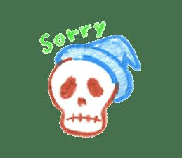 Hand-painted Halloween illustration sticker #736460