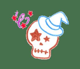 Hand-painted Halloween illustration sticker #736462
