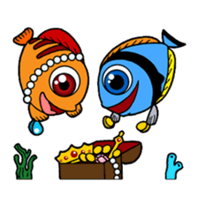 Nong Deepo - the cute Fish - First Set sticker #736612