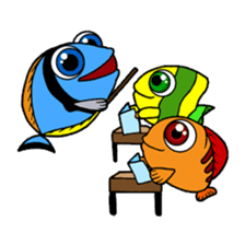 Nong Deepo - the cute Fish - First Set sticker #736616