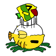 Nong Deepo - the cute Fish - First Set sticker #736621