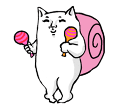Snail cat sticker #736741