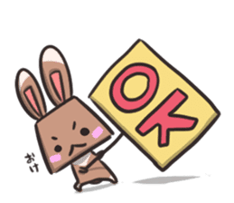 box rabbit & box cat sticker #738160