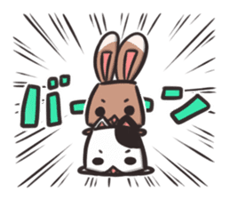 box rabbit & box cat sticker #738181